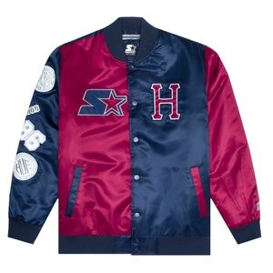 HUF x STARTER SATIN JACKET NAVY Transition Jacket